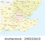 Постер, плакат: south west england administrative
