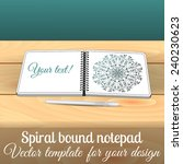 open square spiral bound... | Shutterstock .eps vector #240230623