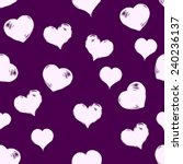 vector seamless love pattern... | Shutterstock .eps vector #240236137