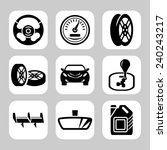 car parts vector icon set | Shutterstock .eps vector #240243217