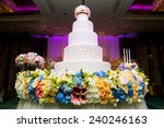 image of a beautiful wedding...   Shutterstock . vector #240246163