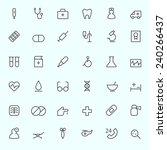 medical and health care icons ... | Shutterstock .eps vector #240266437
