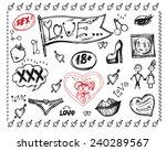 vector graphic  artistic ... | Shutterstock .eps vector #240289567