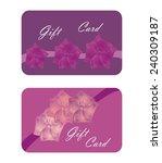 beautiful purple gift cards... | Shutterstock .eps vector #240309187