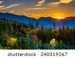 sunset from  kancamagus pass ... | Shutterstock . vector #240319267