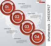 design clean number banners... | Shutterstock .eps vector #240332917