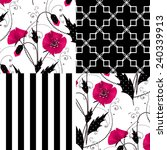 Patchwork Seamless Floral Popp...
