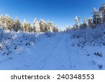 wiezyca peak in kashuby winter... | Shutterstock . vector #240348553