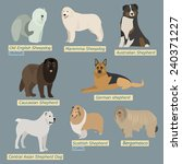 simple silhouettes of dogs.... | Shutterstock .eps vector #240371227