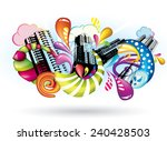 multicolored abstract city with ... | Shutterstock .eps vector #240428503