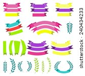 vector set of laurels and... | Shutterstock .eps vector #240434233