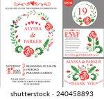 retro wedding design template... | Shutterstock .eps vector #240458893
