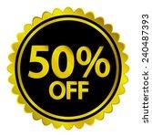 sale sticker on white... | Shutterstock .eps vector #240487393