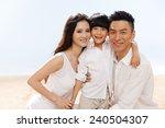 family on beach   Shutterstock . vector #240504307