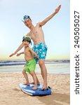 family on beach   Shutterstock . vector #240505027
