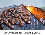 Grilling Chestnuts Being Sold...