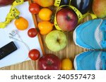 vegetables and fruits for... | Shutterstock . vector #240557473