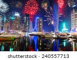 new year fireworks display in... | Shutterstock . vector #240557713