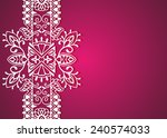 wedding invitation or greeting... | Shutterstock .eps vector #240574033