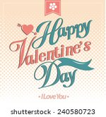 happy valentines day cards  | Shutterstock .eps vector #240580723