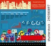 cargo transportation... | Shutterstock .eps vector #240580897