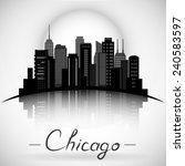 Chicago Illinois City Skyline...