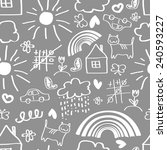 children's painting background  ... | Shutterstock .eps vector #240593227