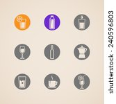 set of icons with beverages  | Shutterstock . vector #240596803