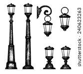 sketch of street light  vector... | Shutterstock .eps vector #240623263