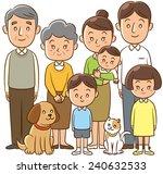 family  home  three generation  ... | Shutterstock . vector #240632533
