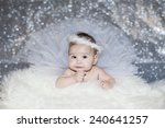 bright portrait of adorable baby | Shutterstock . vector #240641257