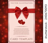 greeting card template with red ...