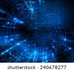 abstract blue background.... | Shutterstock . vector #240678277