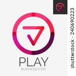 minimal line design logo ... | Shutterstock .eps vector #240690223