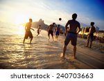 rio sunset silhouettes of... | Shutterstock . vector #240703663