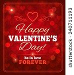 valentines day sparkling... | Shutterstock .eps vector #240711193