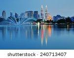 kuala lumpur night scenery | Shutterstock . vector #240713407