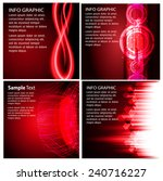 collection red light abstract... | Shutterstock .eps vector #240716227