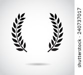 laurel icon isolated on white... | Shutterstock . vector #240737017