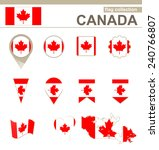 canada flag collection  12... | Shutterstock .eps vector #240766807