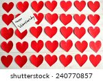 valentines day message card on... | Shutterstock . vector #240770857