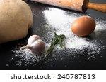 flour  rolling pin  egg ... | Shutterstock . vector #240787813