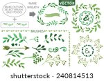 Set Watercolor Wreaths And...