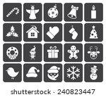 christmas icons  modern flat... | Shutterstock .eps vector #240823447