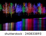 trees tightly wrapped in led... | Shutterstock . vector #240833893