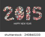 happy new year 2015 with... | Shutterstock .eps vector #240860233