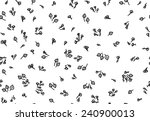 vector seamless floral pattern. | Shutterstock .eps vector #240900013