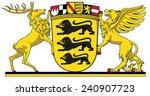 great coat of arms of baden w   ... | Shutterstock .eps vector #240907723