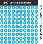 100 agriculture  farm icons ... | Shutterstock .eps vector #240917677