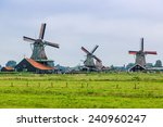 Wind Mills In Zaanse Schans ...